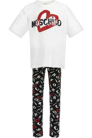 Moschino T-shirt Und Leggings Aus Baumwolljersey