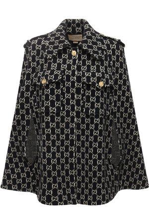 Gucci Damen Mäntel - Cape Aus Wolljacquard