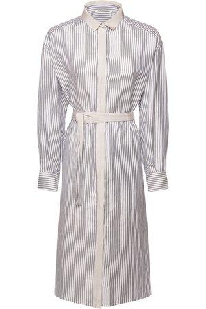 Agnona Hemdkleid Aus Baumwollmischung Mit Gürtel