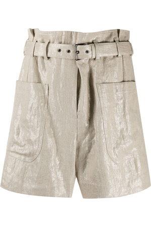Brunello Cucinelli Taillenhohe Shorts mit Gürtel