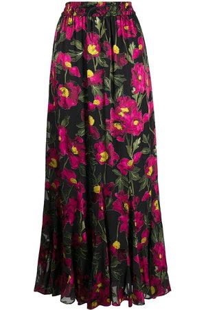 ALICE+OLIVIA Eliza floral drawstring maxi-skirt