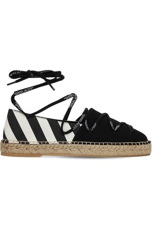 OFF-WHITE 20mm Hohe Espadrilles Aus Canvas