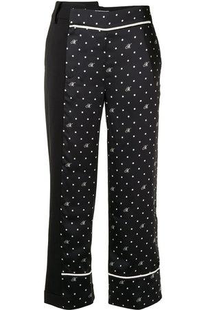 MONSE M polka dot print asymmetric trousers