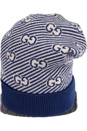 Gucci Intarsien-Mütze mit GG