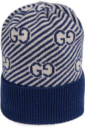 Gucci Gerippte Mütze mit GG