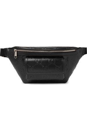 Gucci Herren Gürtel - Logo-Embossed Perforated Leather Belt Bag