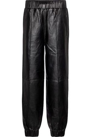 Ganni Hose aus Leder