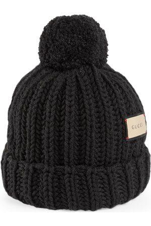 Gucci Damen Hüte - Mütze aus Wollstrick mit Etikett