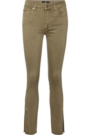 7 for all Mankind Mid-Rise Skinny Jeans Ronnie Slim Illusion