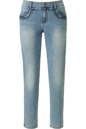 Glücksmoment Damen Cropped - Knöchellange Jeans Modell Grace denim