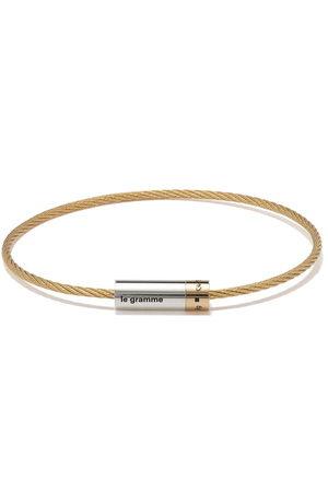 Le Gramme 18kt - und Silberarmband im Kabeldesign, 9g
