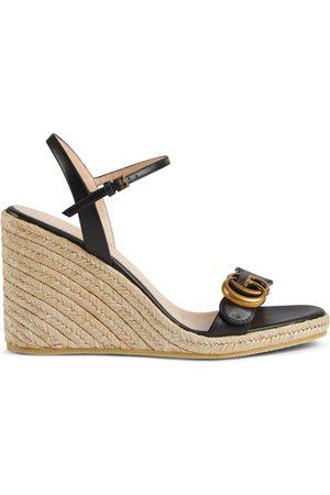 Gucci Damen Keilabsätze - Damenespadrille aus Leder mit Plateausohle