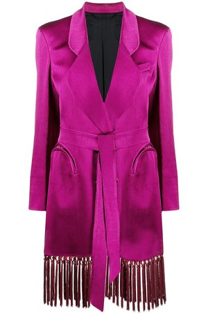 Blazé Milano Tassel-trimmed double-breasted blazer - Lila