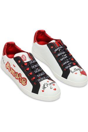 Dolce & Gabbana Sneakers Aus Leder Mit Patch