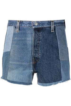 RE/DONE Shorts im Patchwork-Look