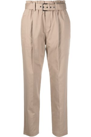 Brunello Cucinelli Paperbag waist cropped trousers - Nude