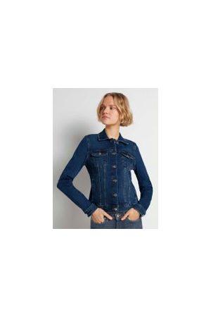 TOM TAILOR Damen Jeansjacken - Jeansjacke mit Brusttaschen, Damen, Used Mid Stone Blue Denim, Größe: M