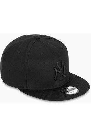 New Era Black NY five panel cap