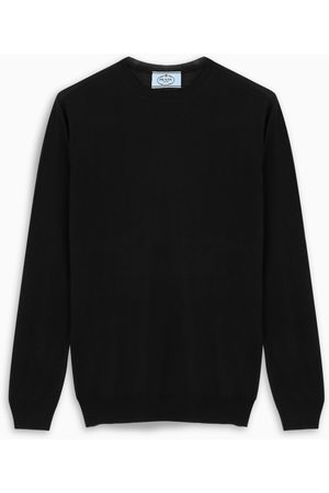 Prada Black wool crew-neck pullover