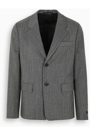 Prada Grey boxy-fit jacket