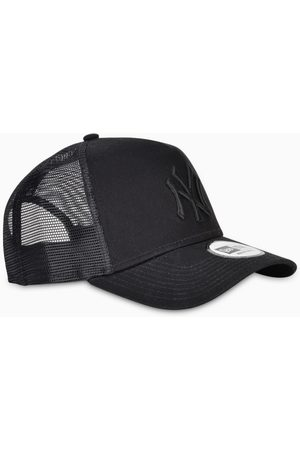 New Era Black Clean Trucker NY cap
