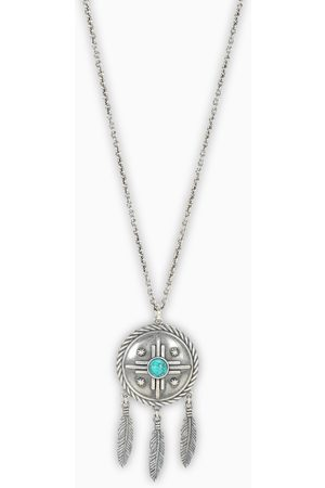 NOVE25 Turquoise Amulet Shield necklace