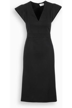 Alexander McQueen Black wool dress