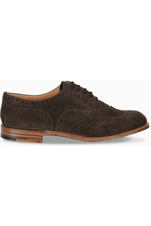 Church's Brown suede Burwood shoes