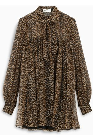Saint Laurent Leopard-print dress