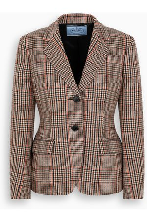 Prada Houndstooth single-breasted jacket