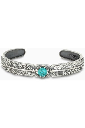 NOVE25 Turquoise Eagle Feather bracelet