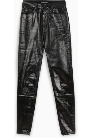 Saint Laurent Black vinyl effect jeans