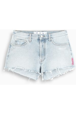 OFF-WHITE ™ Denim frayed shorts