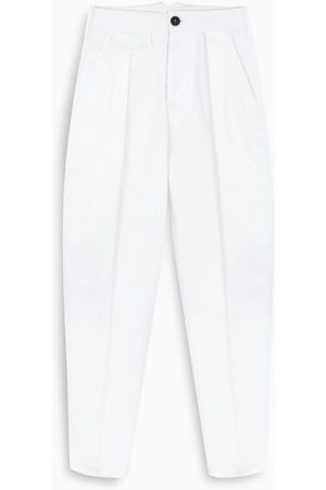 Dsquared2 White pleated jeans