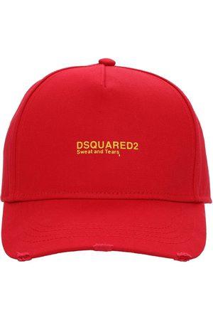 Dsquared2 Herren Caps - Kappe Aus Baumwollgabardine Mit Stickerei