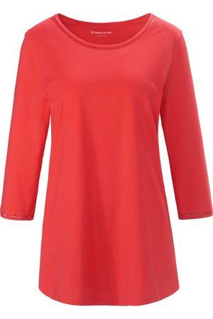 Green Cotton Damen Shirts - Rundhals-Shirt 3/4-Arm pink
