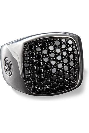 David Yurman Black diamond-embellished signet ring