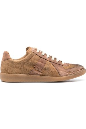Maison Margiela Distressed Replica suede sneakers