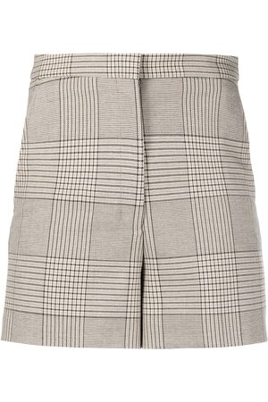 Remain Mady checked high-rise shorts - Nude