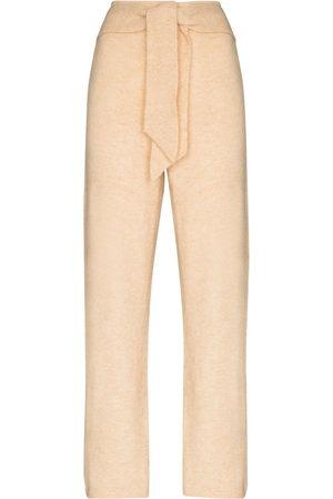 Nanushka Nea knit trousers - Nude