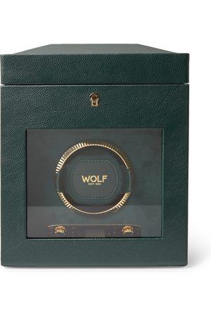 Wolf Herren Uhren - British Racing Pebble-Grain Vegan Leather Watch Winder