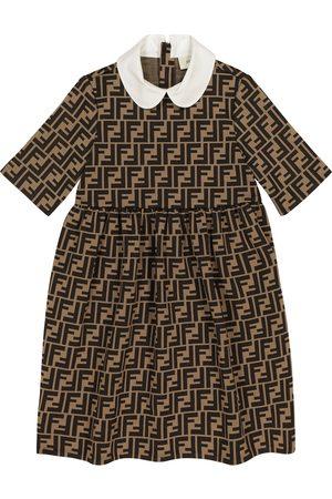 Fendi Mädchen Kleider - Kleid FF aus einem Baumwollgemisch