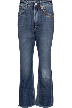 Givenchy High-Rise Straight Cropped Jeans