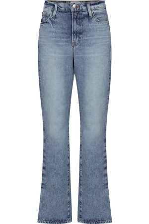 Frame High-Rise Straight Jeans Le Drew