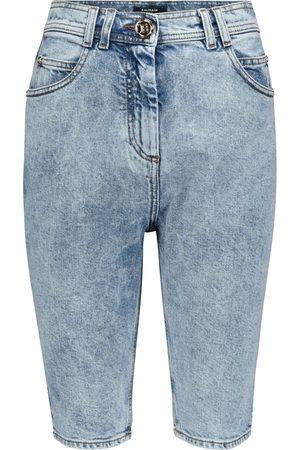 Balmain High-Rise Jeansshorts