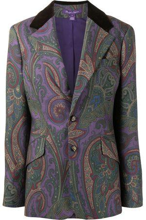 Ralph Lauren Single breasted paisley-print blazer - Lila