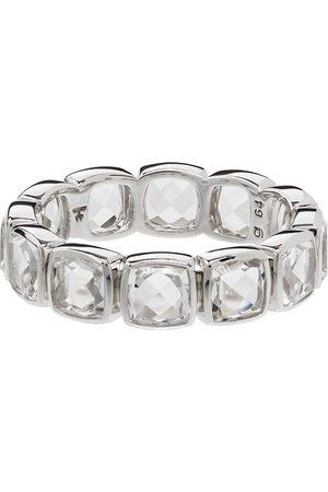 TOM WOOD Cushion Band Rock Ring mit Kristallen