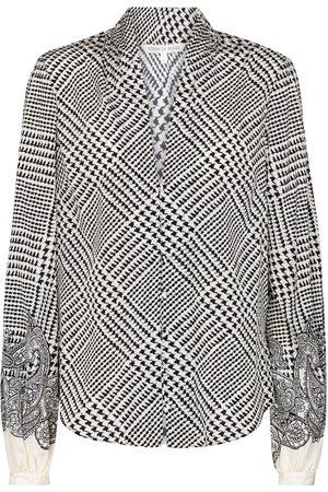VERONICA BEARD Damen Longsleeves - Bluse Beata aus einem Seidengemisch