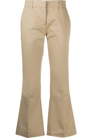 Marni Panelled cropped trousers - Nude