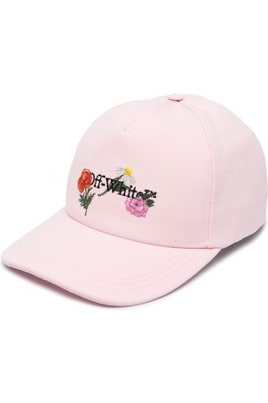 OFF-WHITE EMBR CANVAS BASEBALL CAP NUDE MULTICOLO